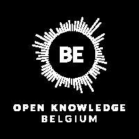 Open Knowledge Belgium white logo